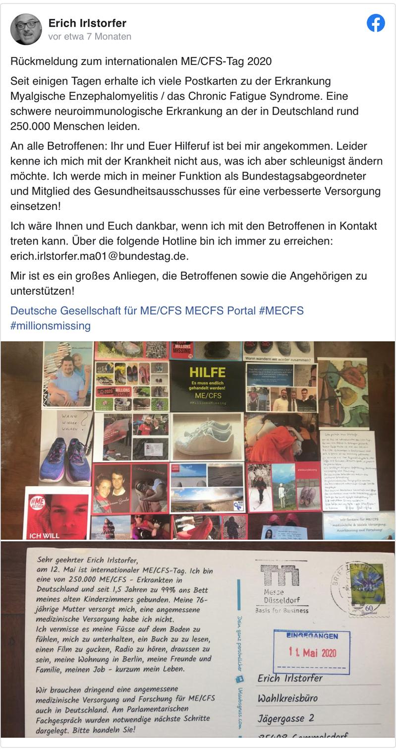 FB Post Erich Irlstorfer